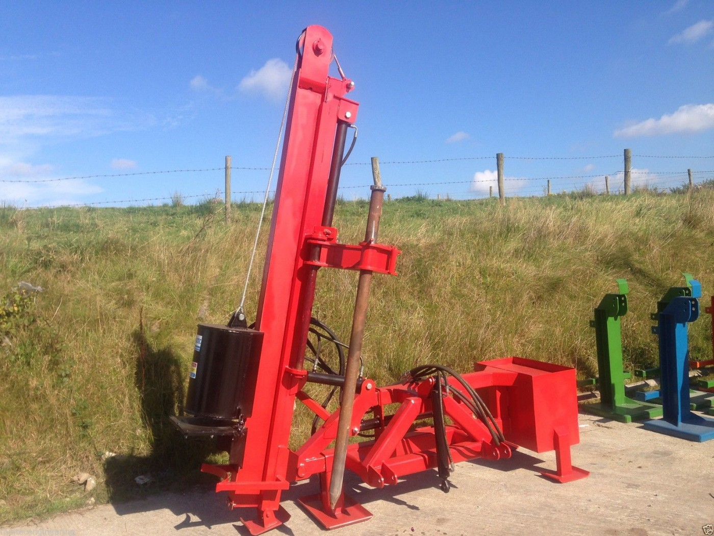 Tractor Post Driver Telescopic Side Mast Amp Rock Spike