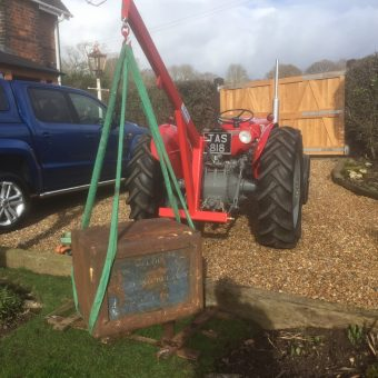 Tractor Forks Attachment (1 5Ton SWL - Fold Up Forks