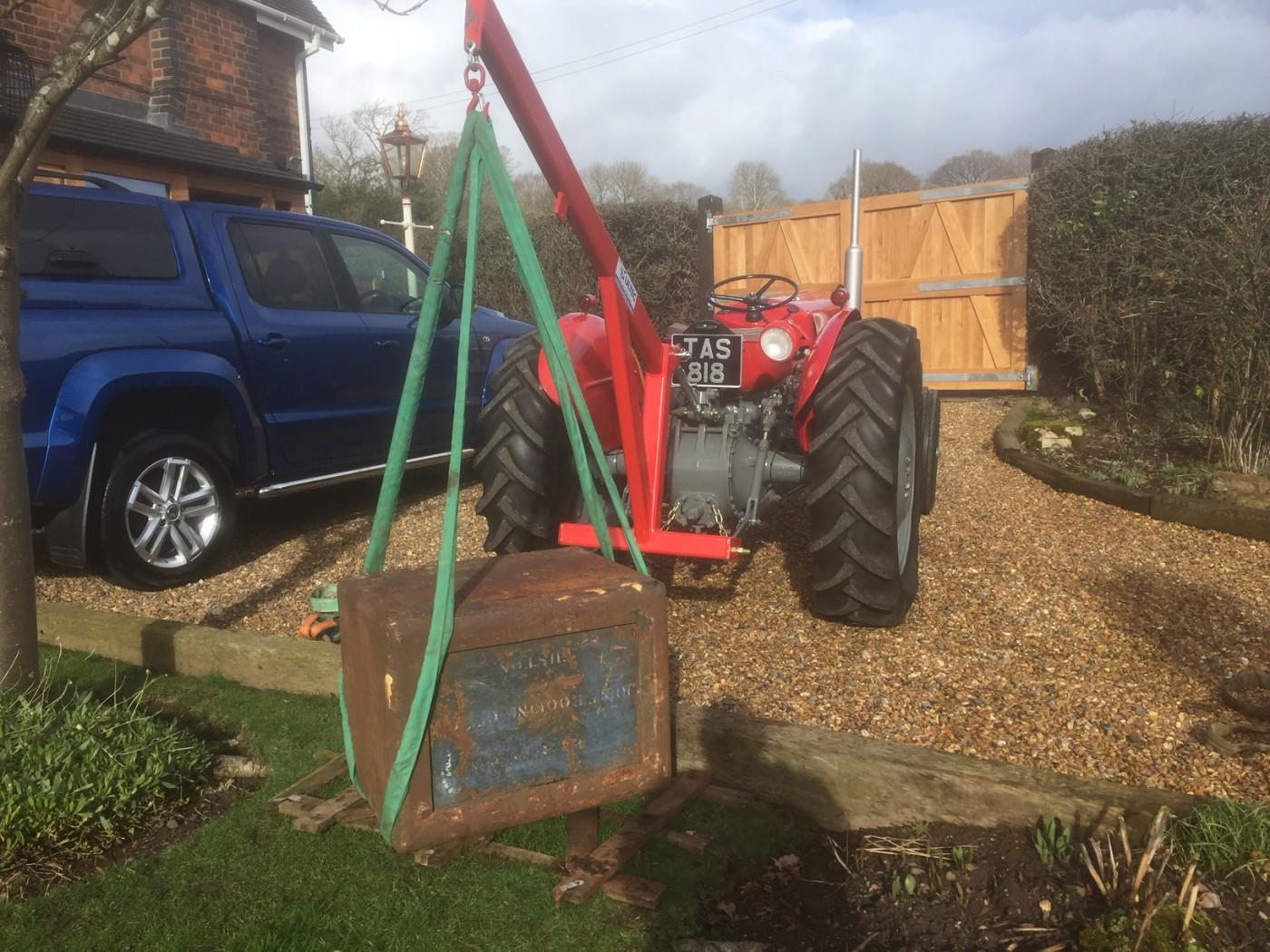 Tractor Bucket Attachments : Tractor crane attachment ton swl multec engineering
