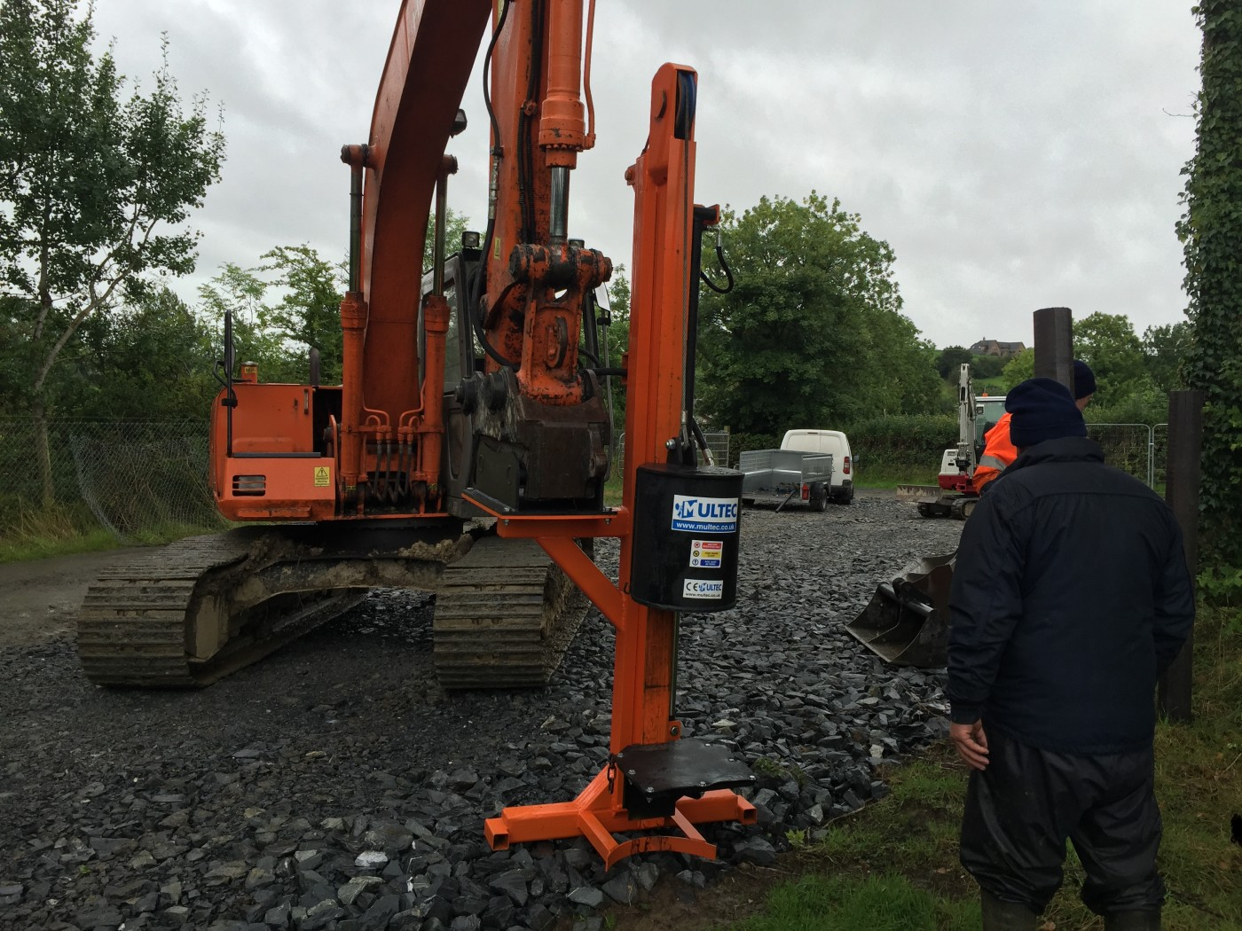 hydraulic post drivers for sale used