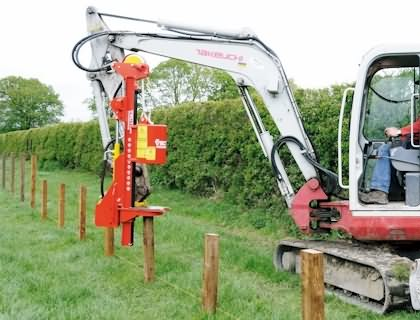 hydraulic fence post driver for skid steer
